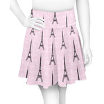 Paris Bonjour and Eiffel Tower Skater Skirt (Personalized)