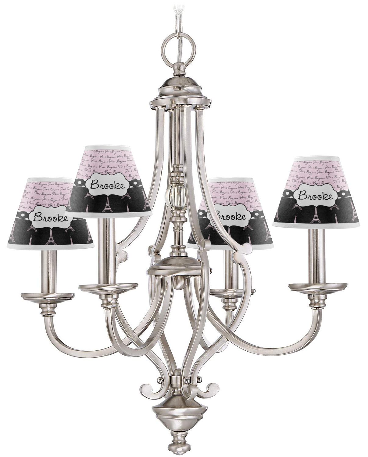 ... Paris Bonjour And Eiffel Tower Small Lamp   Chandelier Shade ...