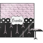 Paris Bonjour and Eiffel Tower Square Table Top (Personalized)
