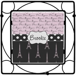 Paris Bonjour and Eiffel Tower Trivet (Personalized)