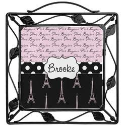 Paris Bonjour and Eiffel Tower Trivet (Personalized)