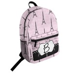 Paris Bonjour and Eiffel Tower Student Backpack (Personalized)