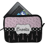 Paris Bonjour and Eiffel Tower Tablet Case / Sleeve (Personalized)