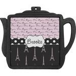 Paris Bonjour and Eiffel Tower Teapot Trivet (Personalized)