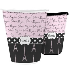 Paris Bonjour and Eiffel Tower Waste Basket (Personalized)