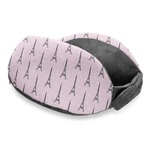 Paris Bonjour and Eiffel Tower Travel Neck Pillow