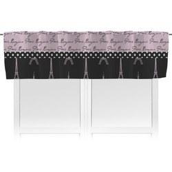 Paris Bonjour and Eiffel Tower Valance (Personalized)