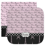 Paris Bonjour and Eiffel Tower Facecloth / Wash Cloth (Personalized)