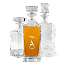 Paris Bonjour and Eiffel Tower Whiskey Decanter (Personalized)