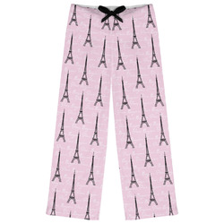 Paris Bonjour and Eiffel Tower Womens Pajama Pants (Personalized)