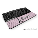 Paris Bonjour and Eiffel Tower Keyboard Wrist Rest (Personalized)