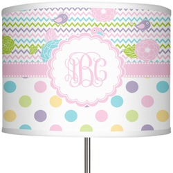 "Girly Girl 13"" Drum Lamp Shade (Personalized)"