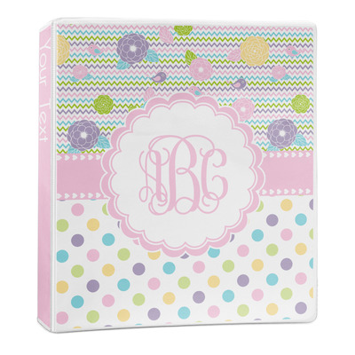Girly Girl 3-Ring Binder - 1 inch (Personalized)
