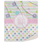 Girly Girl Sherpa Throw Blanket (Personalized)