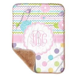 "Girly Girl Sherpa Baby Blanket 30"" x 40"" (Personalized)"