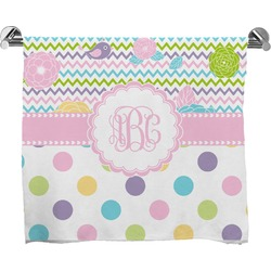 Girly Girl Full Print Bath Towel (Personalized)