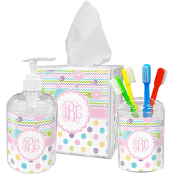 Girly Girl Acrylic Bathroom Accessories Set w/ Monogram
