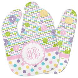 Girly Girl Baby Bib w/ Monogram