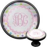 Girly Girl Cabinet Knob (Black) (Personalized)