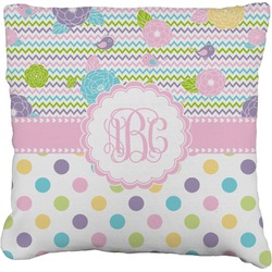 """Girly Girl Faux-Linen Throw Pillow 16"""" (Personalized)"""