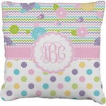 Girly Girl Faux-Linen Throw Pillow (Personalized)