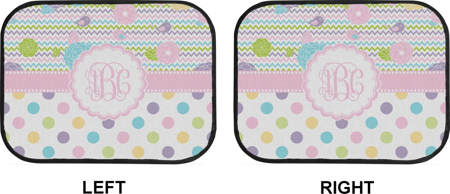 Girly Girl Car Floor Mats Back Seat Personalized