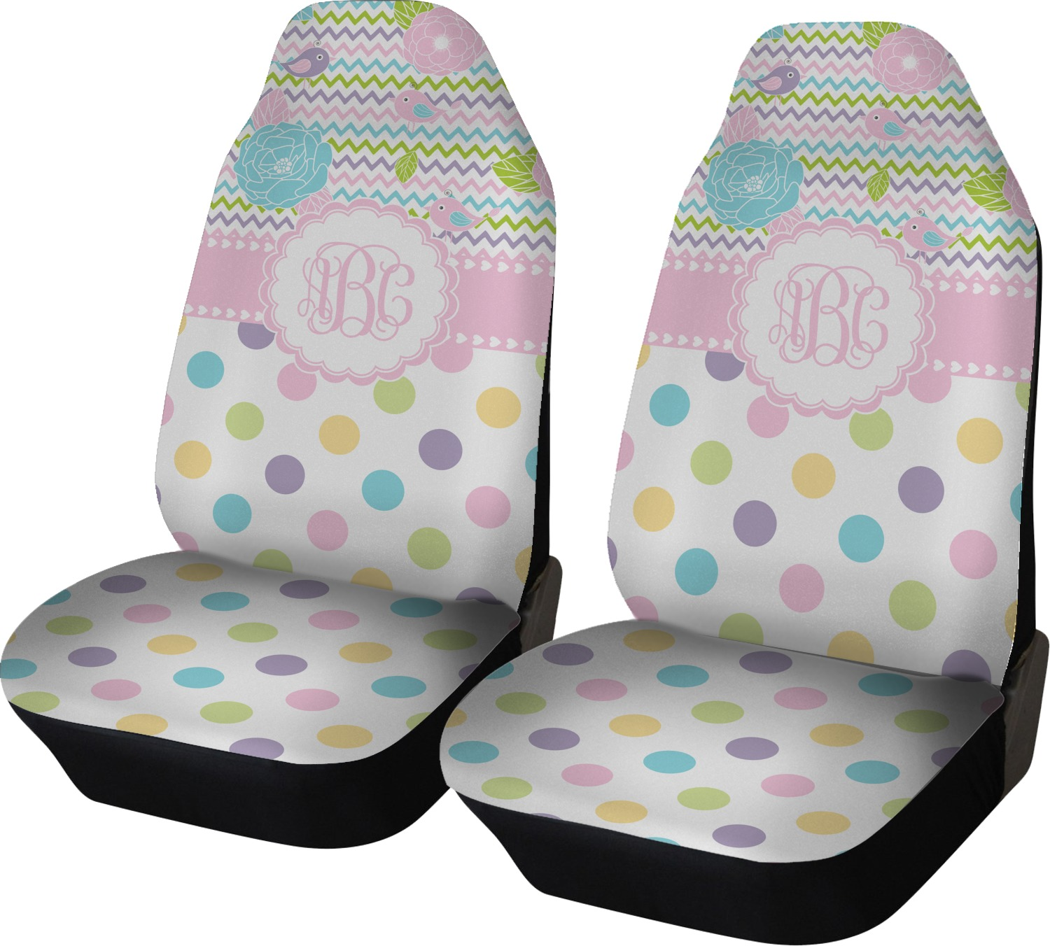girly girl car seat covers set of two personalized youcustomizeit. Black Bedroom Furniture Sets. Home Design Ideas
