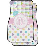 Girly Girl Car Floor Mats (Front Seat) (Personalized)
