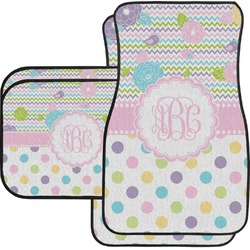 Girly Girl Car Floor Mats Set - 2 Front & 2 Back (Personalized)