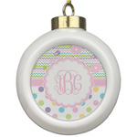 Girly Girl Ceramic Ball Ornament (Personalized)