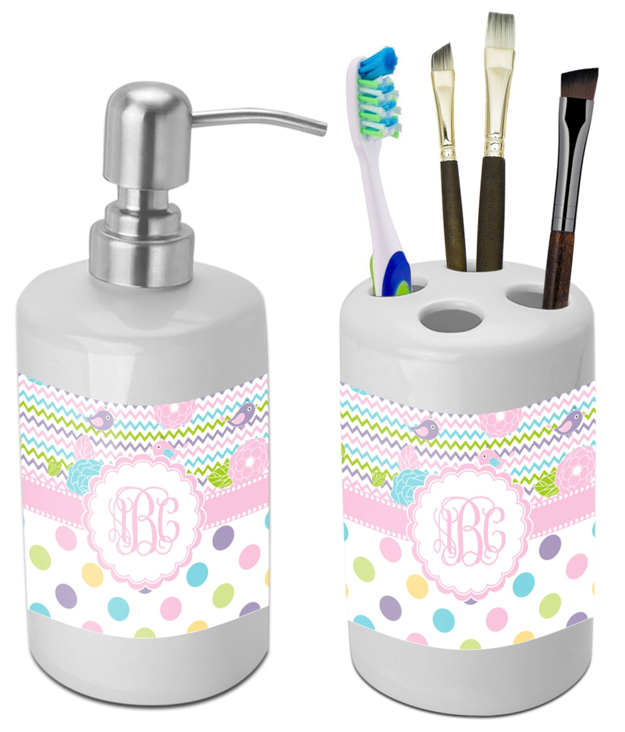 Girly Girl Bathroom Accessories Set (Ceramic) (Personalized ...