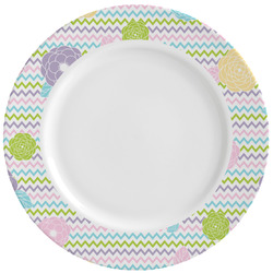 Girly Girl Ceramic Dinner Plates (Set of 4) (Personalized)