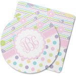 Girly Girl Rubber Backed Coaster (Personalized)