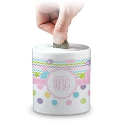 Girly Girl Coin Bank (Personalized)