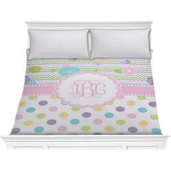 Girly Girl Comforter - King (Personalized)