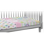 Girly Girl Crib Fitted Sheet (Personalized)