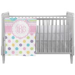Girly Girl Crib Comforter / Quilt (Personalized)