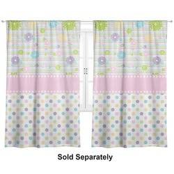 """Girly Girl Curtains - 40""""x54"""" Panels - Unlined (2 Panels Per Set) (Personalized)"""
