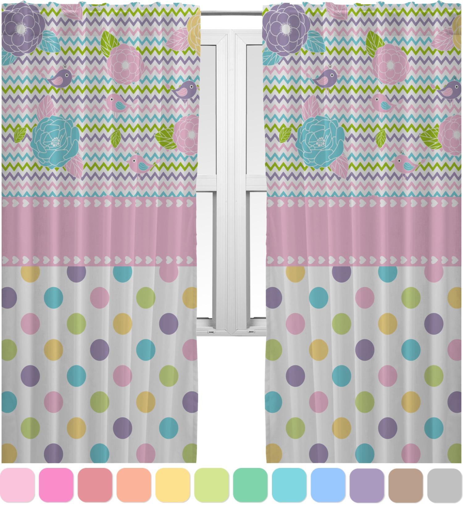 Girly Window Curtains Decorating