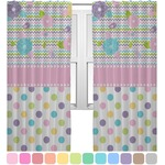 Girly Girl Curtains (2 Panels Per Set) (Personalized)