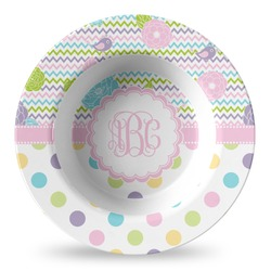 Girly Girl Plastic Bowl - Microwave Safe - Composite Polymer (Personalized)