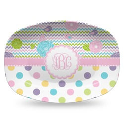 Girly Girl Plastic Platter - Microwave & Oven Safe Composite Polymer (Personalized)