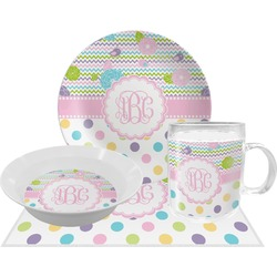 Girly Girl Dinner Set - 4 Pc (Personalized)