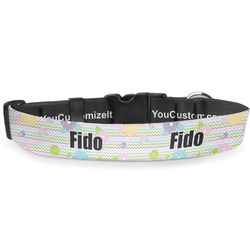 Girly Girl Deluxe Dog Collar (Personalized)