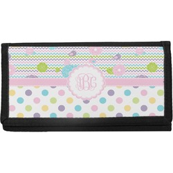 Girly Girl Canvas Checkbook Cover (Personalized)