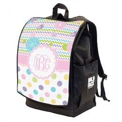 Girly Girl Backpack w/ Front Flap  (Personalized)