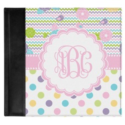Girly Girl Genuine Leather Baby Memory Book (Personalized)