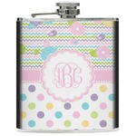 Girly Girl Genuine Leather Flask (Personalized)