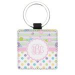 Girly Girl Genuine Leather Rectangular Keychain (Personalized)