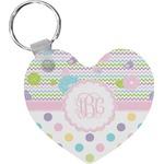 Girly Girl Heart Keychain (Personalized)